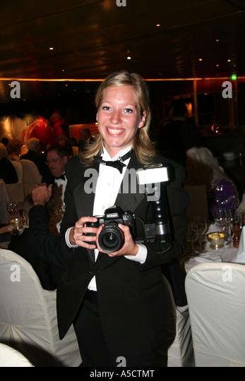 Smiling Cruise Ship Photographer Stock Photos & Smiling Cruise