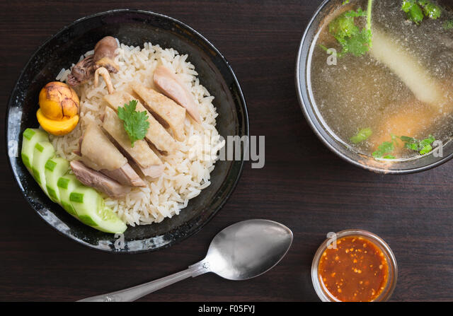 rice-steamed-with-chicken-soup-or-hainan