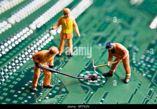 circuit stock photos circuit stock images alamy worker figurines placed on a computer circuit board stock image