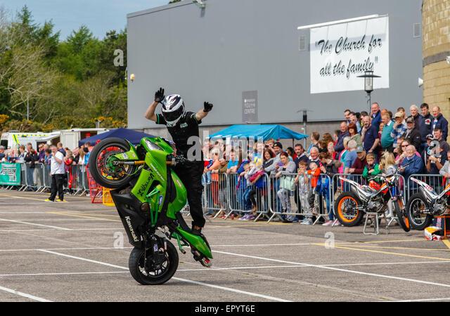 Motorbike Stunt Rider Stock Photos Motorbike Stunt Rider