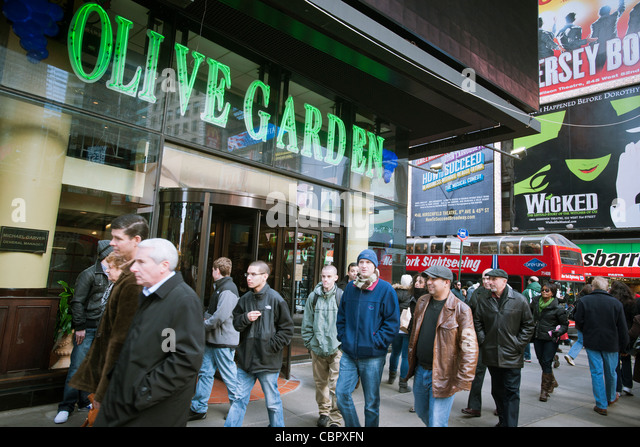 An Olive Garden Restaurant In Times Square In New York Is Seen On Friday,  December