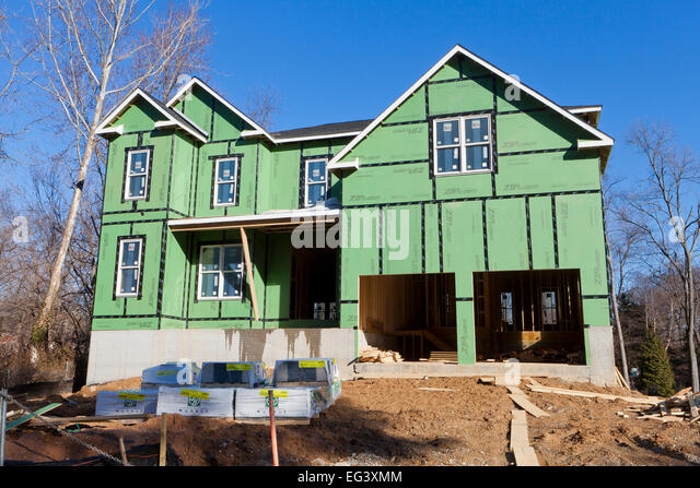 Sheathing construction stock photos sheathing for Sheathing house wrap