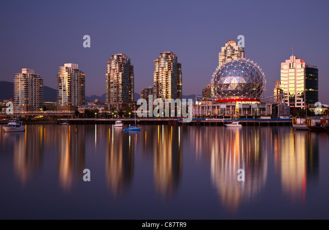Vancouver Olympic Village Night Stock Photos & Vancouver ...