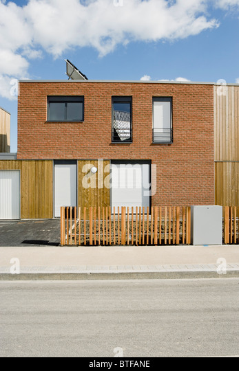 Brick Apartment Building Illustration. Apartment building with solar panel  Stock Image Brick Buildings Photos