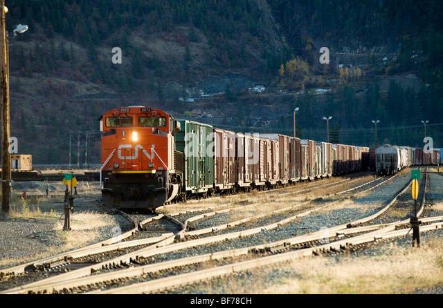 Lillooet (BC) Canada  city images : CN train yard. Lillooet BC, Canada. Stock Image