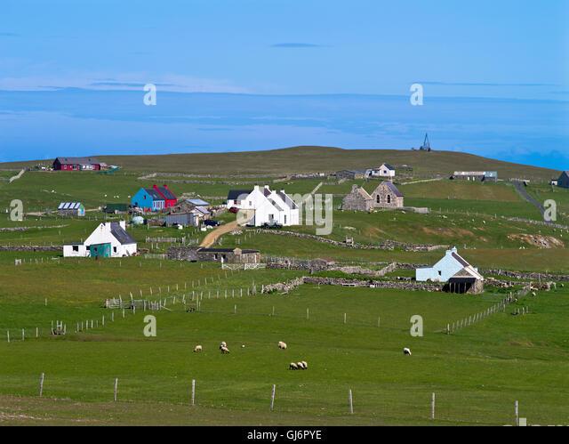 Croft Fair Isle Shetland Scotland Stock Photos & Croft Fair Isle ...