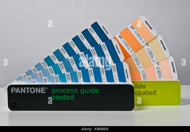 pantone swatch books process color guides coated and uncoated stock image - Pantone Color Swatch Book