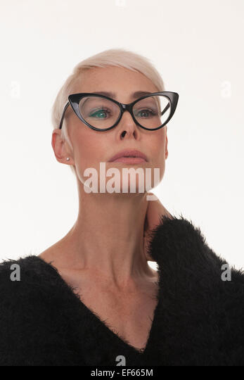 Blonde Mature in Glasses Gets It!