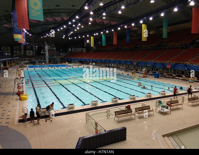 Olympic Park Sports Centre Swimming Pool In Montreal Quebec Canada