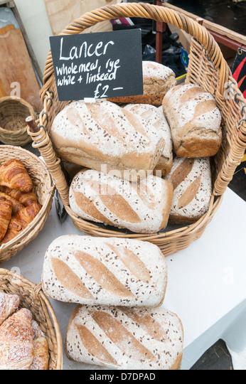 Lancer Wholemeal Bread Loaves Dales Festival Of Food Leyburn Yorkshire England Uk Stock Image