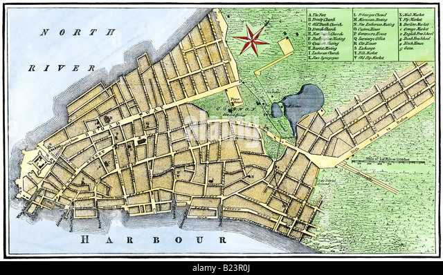Historic Map New York City Stock Photos  U0026 Historic Map New