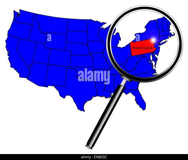 Pennsylvania State Map Stock Photos  Pennsylvania State Map Stock
