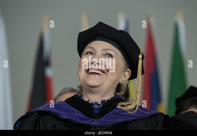 Wellesley, MA, USA. 26th May 2017.  2016 United States Democratic Presidential Candidate Hillary Clinton (Wellesley - Stock Image