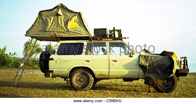 C&ing equipment used in Africa - roof top tent - Stock Image & Camping Rooftop Roof Top Stock Photos u0026 Camping Rooftop Roof Top ...