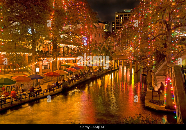 Riverwalk San Antonio Christmas Stock Photos & Riverwalk San ...