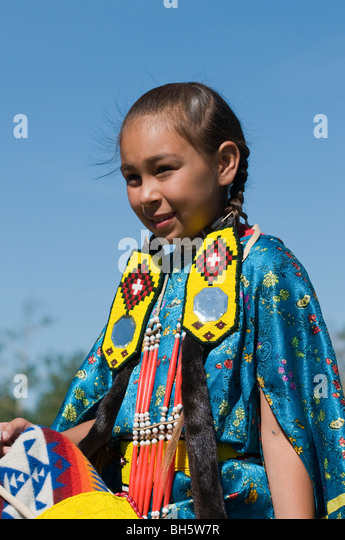 Young native american girl