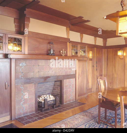 Fireplace In Arts And Crafts Dining Room In The Gamble House Designed By  Greene And Greene