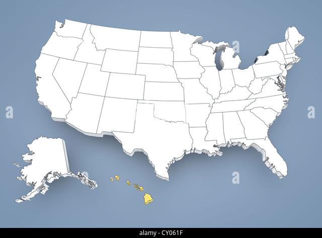 Hawaii Usa Map Stock Photos Hawaii Usa Map Stock Images Alamy - Us map hawaii