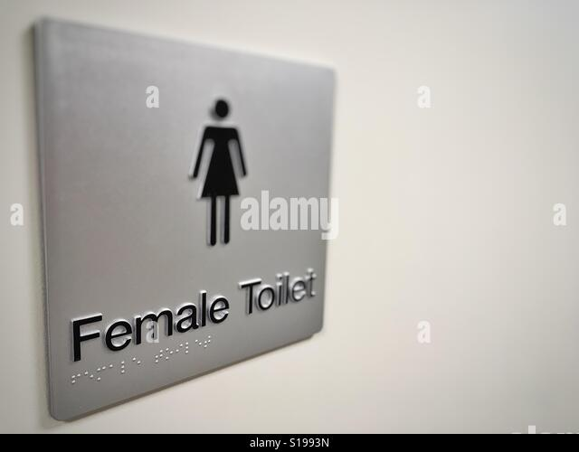 Female toilet sign with Braille writing on it    Stock Image. Female Toilet Sign Stock Photos   Female Toilet Sign Stock Images
