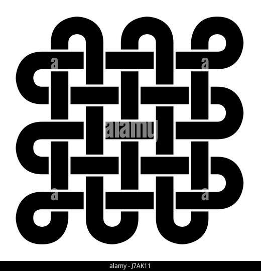 Tibetan Buddhism Symbol Endless Knot Black And White Stock Photos