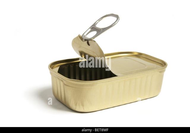 Sardine tin stock photos sardine tin stock images alamy for Empty sardine cans
