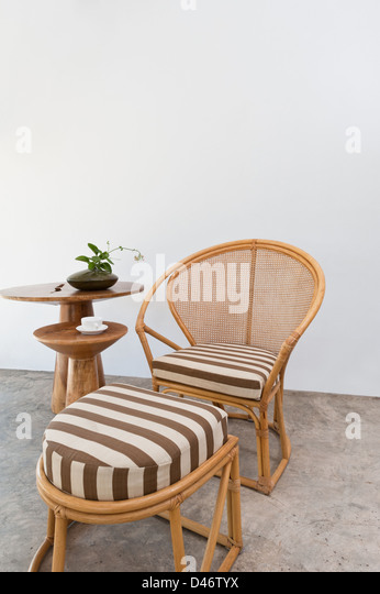 Bamboo Rattan Chairs the bamboo lounge stock photos & the bamboo lounge stock images
