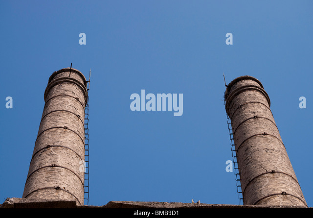 Brick furnace stock photos brick furnace stock images for Twin chimneys