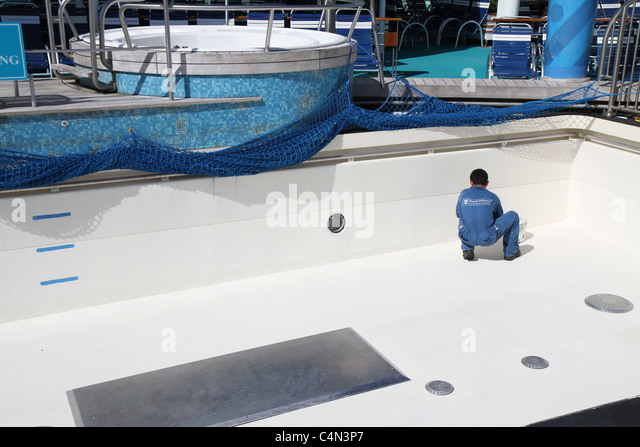 Swimming Pool Service Worker : Paint a ship stock photos images alamy