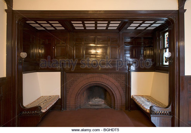 Tudor fireplace stock photos tudor fireplace stock for Tudor style fireplace