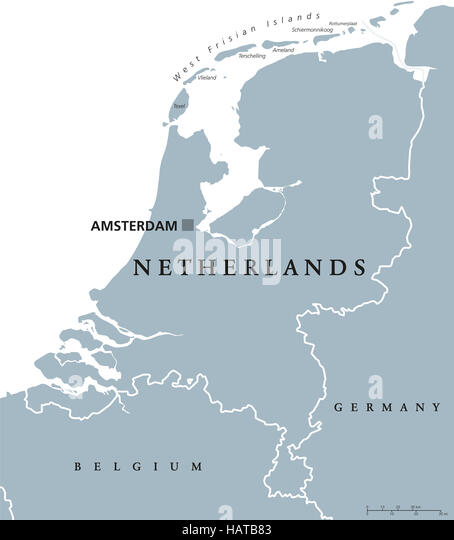 Netherlands Country Map Stock Photos Netherlands Country Map - Amsterdam country map
