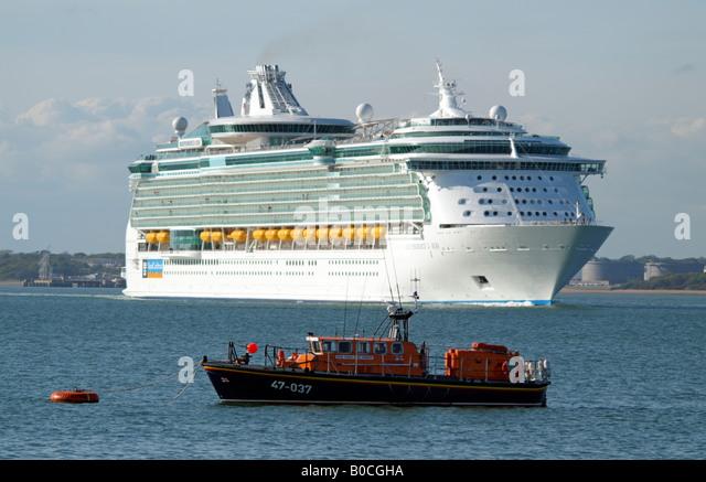 Lifeboat Royal Caribbean Cruise Ship Stock Photos