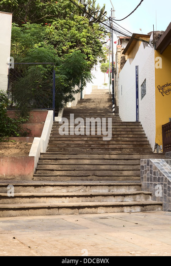 stairs of the path oroya along the bajada de los baos in the district of barranco