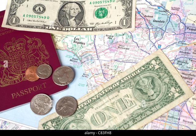 Passport Map Stock Photos Passport Map Stock Images Alamy - Us money map