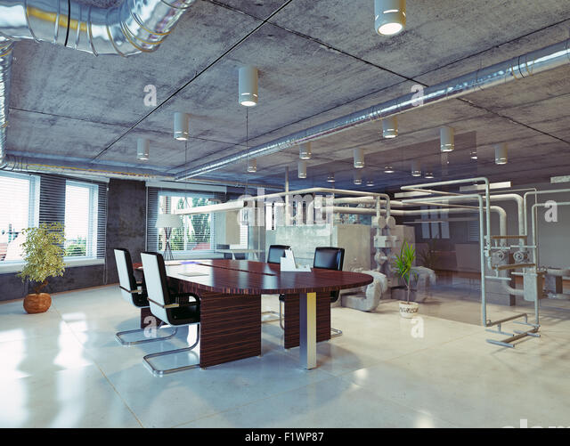 Illustration cartoon businessman running holding stock for Loft office design