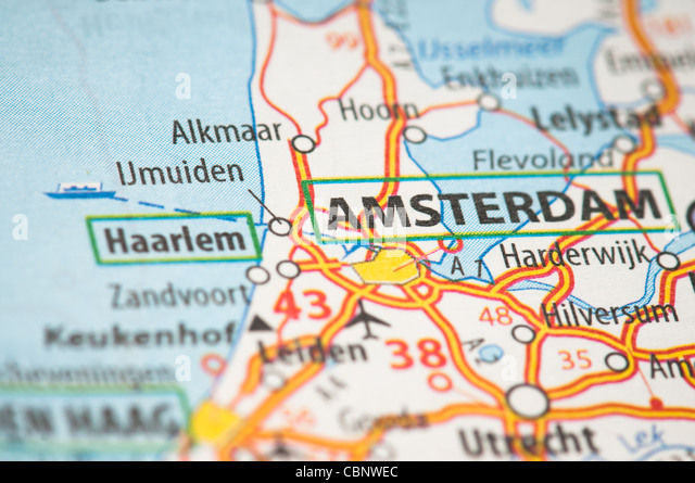 amsterdam on map stock photos amsterdam on map stock images alamy