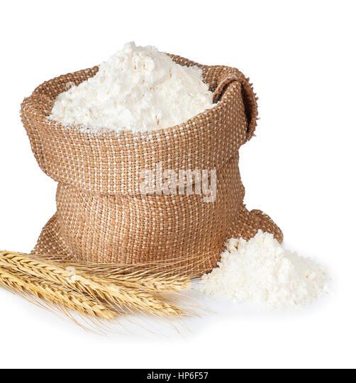 Flour Bag White Background Stock Photos & Flour Bag White ...