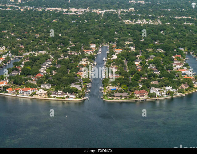 florida houses on the water. aerials of houses on water in suburban tampa florida stock image the i