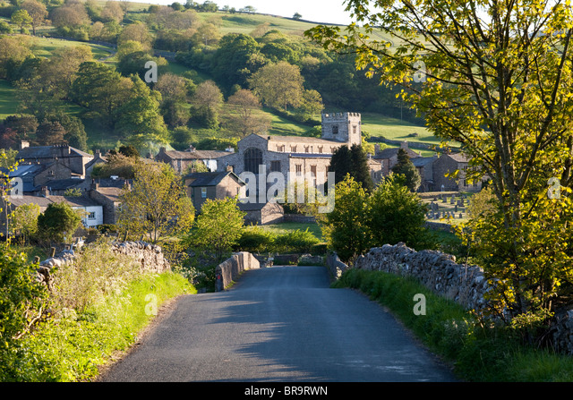Evening Light In Dentdale The Yorkshire Dales National Park On Village Of Dent