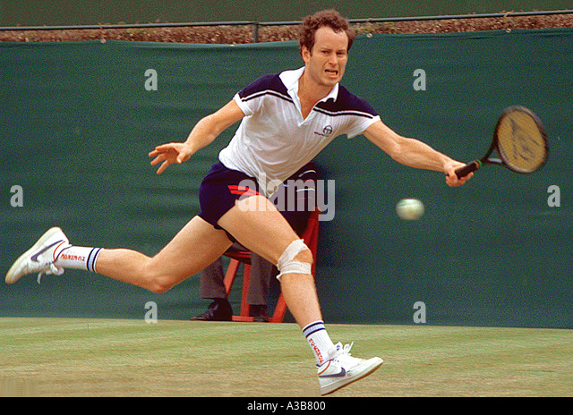 john mcenroe usa competing at queens london stock image