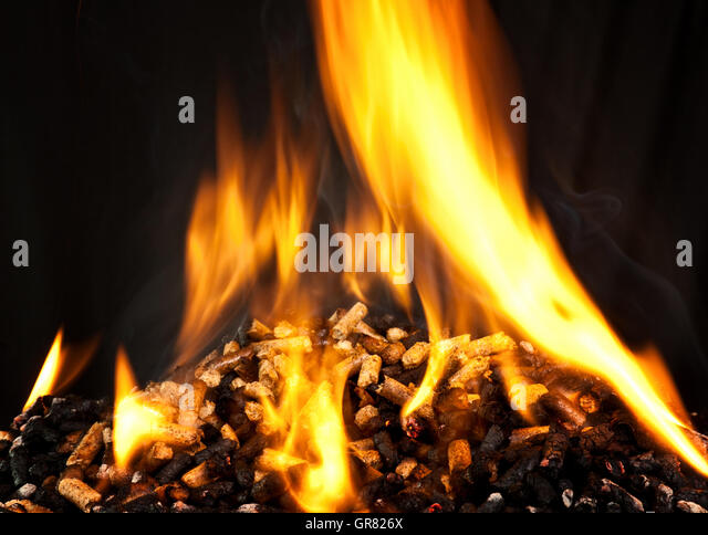 Pellet stove stock photos images alamy