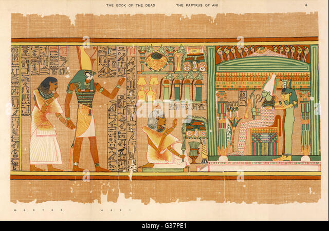 a history of funerary papyrus of ani in ancient egypt The book of the dead is an ancient egyptian funerary text, used from the  beginning  other spells were composed later in egyptian history, dating to the  third  for the theban scribe ani, is a papyrus manuscript with cursive  hieroglyphs and.