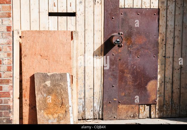 Marvelous Old Rusted Metal Door   Stock Image