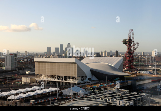 Olympic swimming pool aerial stock photos olympic - Stratford swimming pool opening times ...