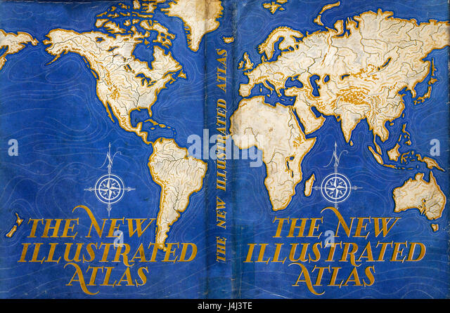 Illustration of atlas map - Stock Image