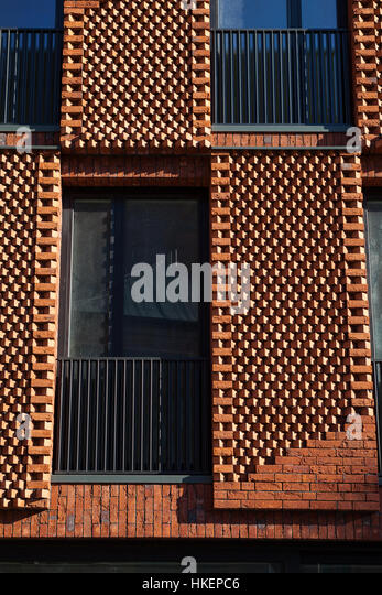 facade brick apartment house conceptual stock photos & facade