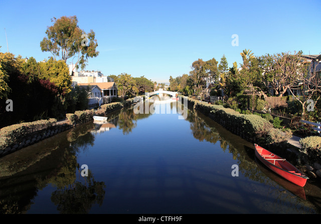 Canals In The United States : Venice canals beach los stock photos