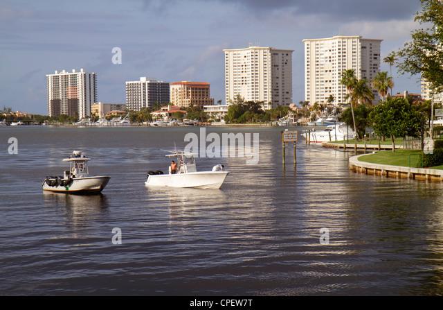 Police boat fishing boat stock photos police boat for Boca raton fishing