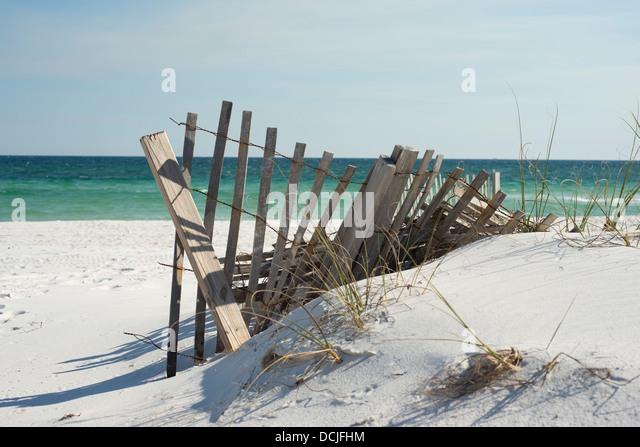 Beach fence near pensacola beach stock photos beach for Architectural concepts pensacola florida
