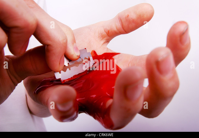 A Razor With Blood Stock Photos Amp A Razor With Blood Stock