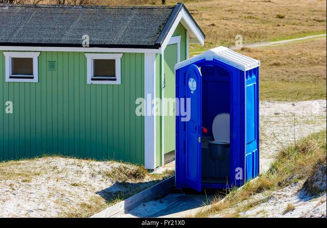Swedish Portable Toilet : Rental toilet stock photos images